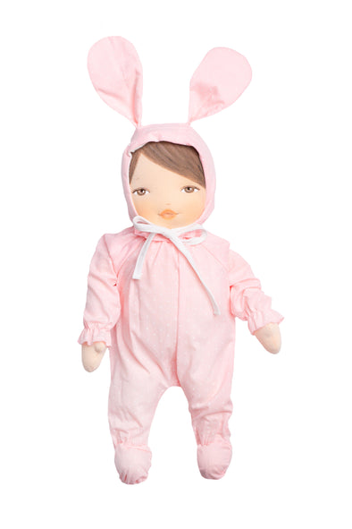 Morenita Bunny with Pink Dot Outfit