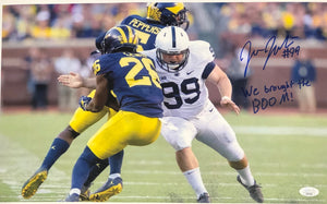Joe Julius Penn State Nittany Lions Signed 11x17 We Brought The Boom Inscr. With JSA COA