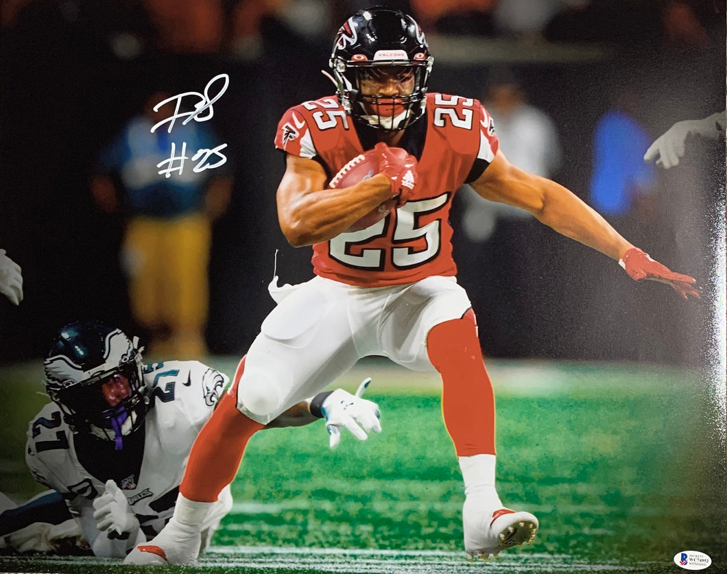 Ito Smith Atlanta Falcons Signed 16x20 With BAS COA
