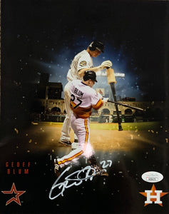 Geoff Blum Houston Astros Signed 8x10 With JSA COA