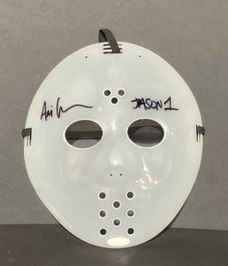 Ari Lehman Friday The 13th Signed Hockey Mask Jason 1 Inscr. With JSA COA
