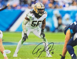 Demario Davis New Orleans Saints Signed 8x10 With JSA COA