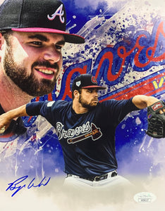 Bryce Wilson Atlanta Braves Signed 8x10 Collage With JSA COA