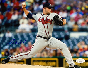 Bryce Wilson Atlanta Braves Signed 8x10 Gray With JSA COA