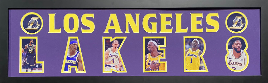 Los Angeles Lakers Team Plaque 2020 Championship