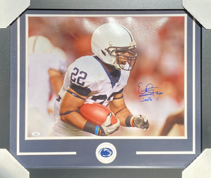 Evan Royster Penn State Nittany Lions Signed Framed 16x20 Joe Pa U Inscr With JSA COA