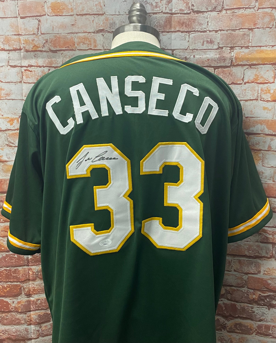 Jose Canseco Oakland Athletics Signed Custom Dk Green Jersey With JSA COA