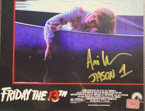 Ari Lehman Signed Friday the 13th 8x10 Movie Poster Boat With Ari Lehman COA