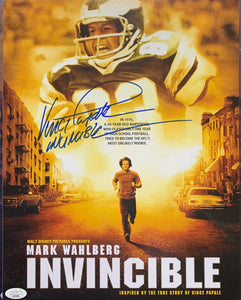 Vince Papale Philadelphia Eagles Signed 11x14 Movie Poster Invincible Inscr. With JSA COA