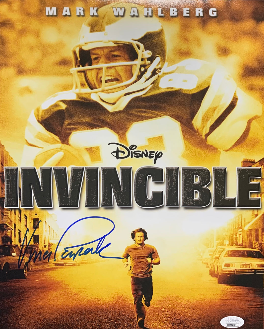 Vince Papale Philadelphia Eagles Signed 11x14 Movie Poster With JSA COA