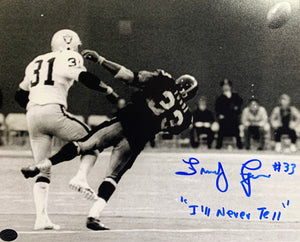 John Frenchy Fuqua Pittsburgh Steelers Signed 8x10 B/W Ill Never Tell Inscr. With COA