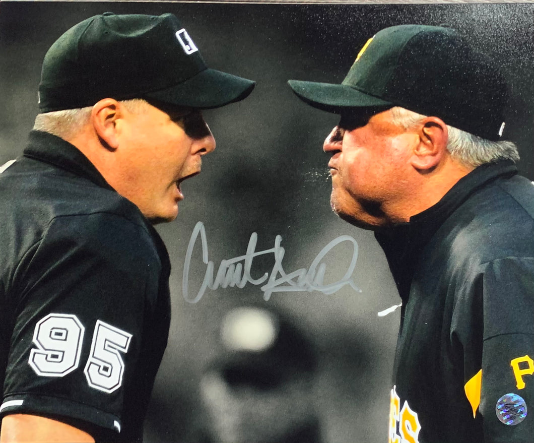 Clint Hurdle Pittsburgh Pirates Signed 8x10 Umpire With COA