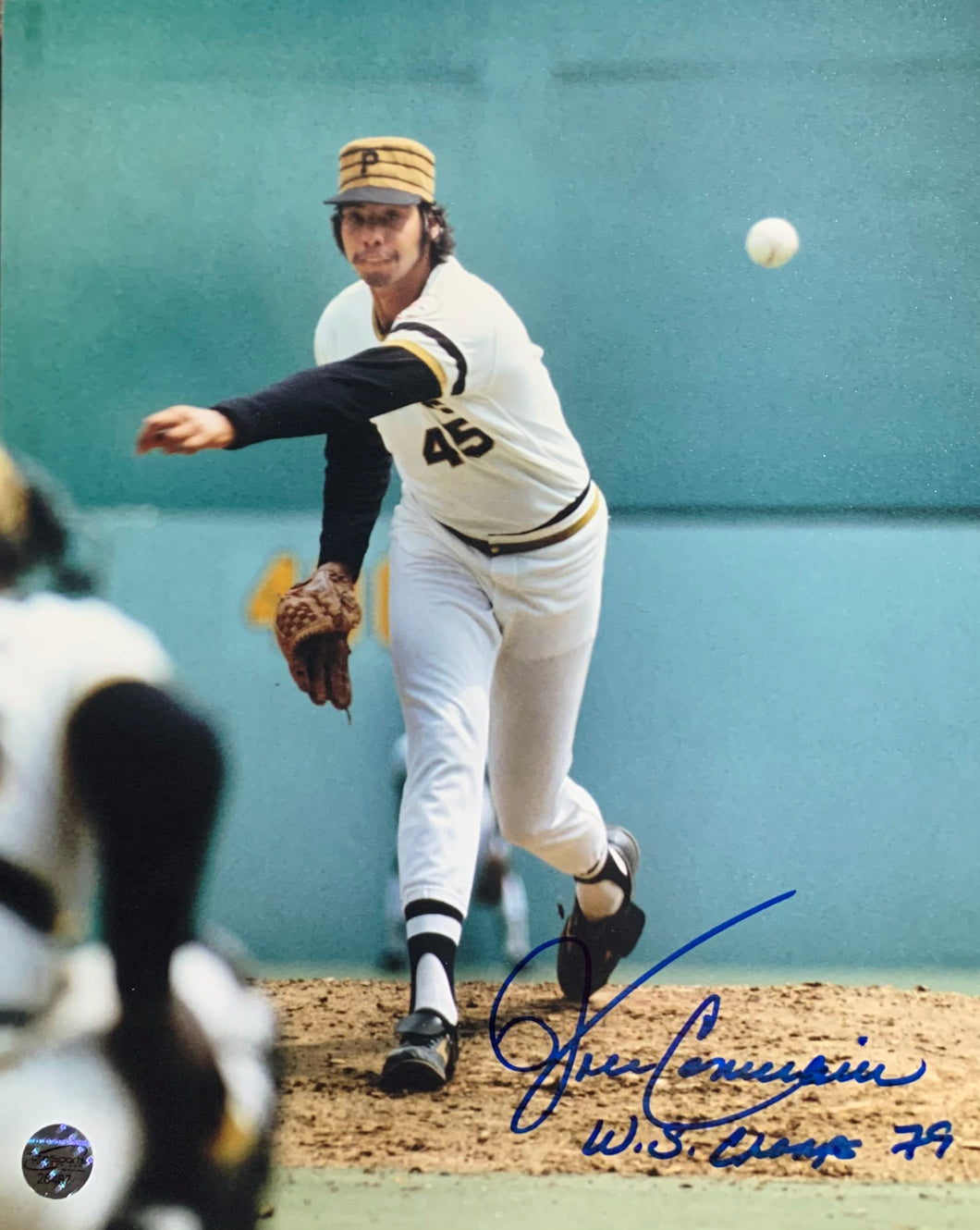 John Candelaria Pittsburgh Pirates Signed 8x10 W.S. Champ 79 Inscr. With COA