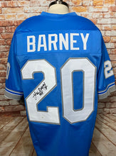Load image into Gallery viewer, Lem Barney Detriot Lions Signed Custom Blue Jersey HOF 92 Inscr. With JSA COA