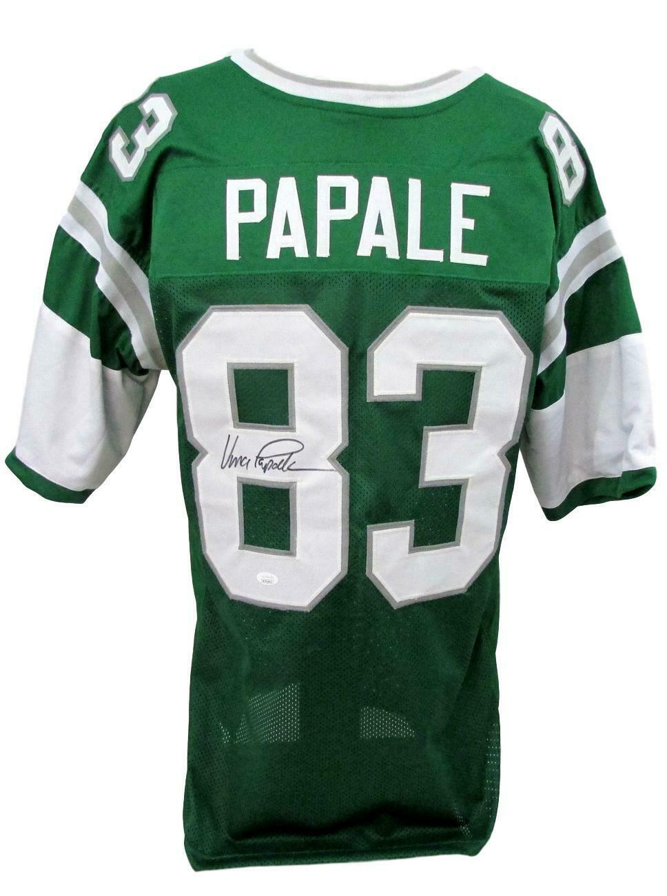 Philadelphia Eagles Vince Papale Signed Green Jersey with JSA COA