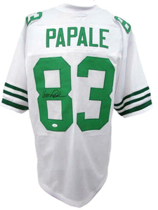 Philadelphia Eagles Vince Papale Signed White Jersey with JSA COA