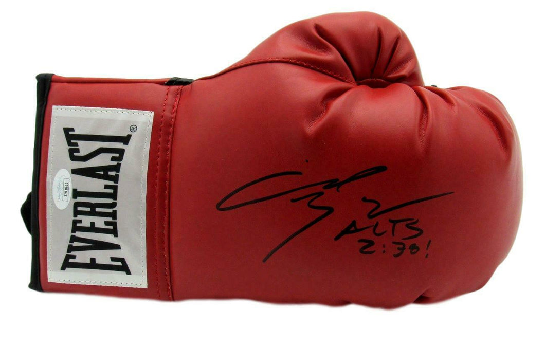 Angel Manfredy Boxing Signed/Inscr Everlast Red Right Boxing Glove JSA COA