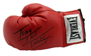 Tony TNT Tubbs Boxing Champ Signed Everlast Red Left Boxing Glove JSA COA