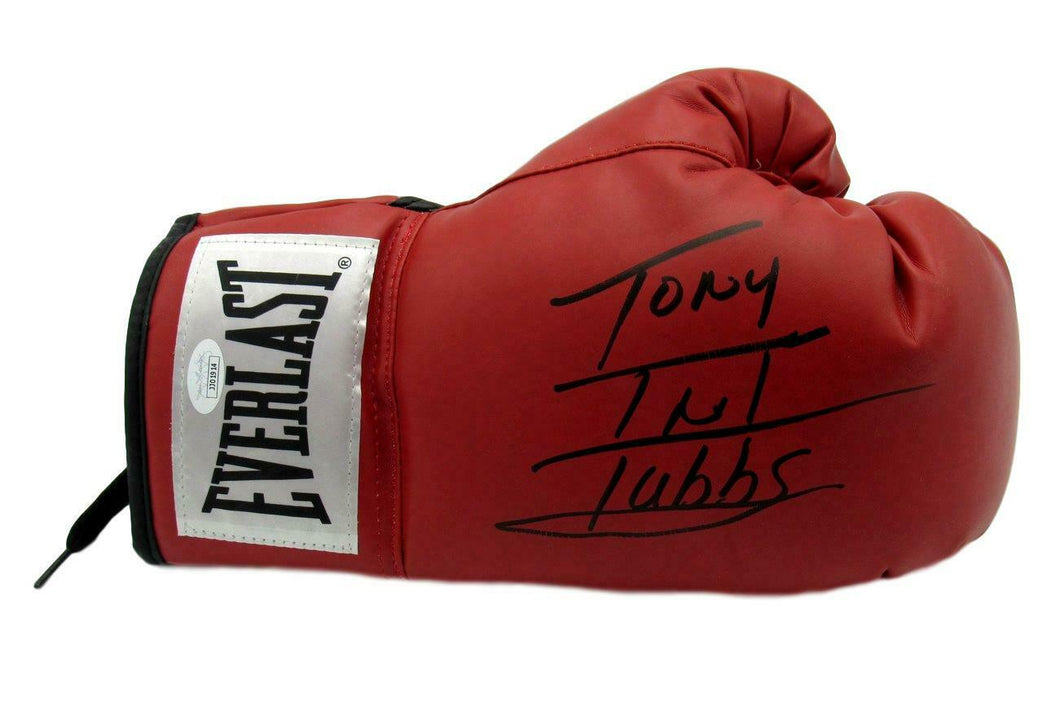 Tony TNT Tubbs Boxing Champ Signed Everlast Red Right Boxing Glove JSA COA