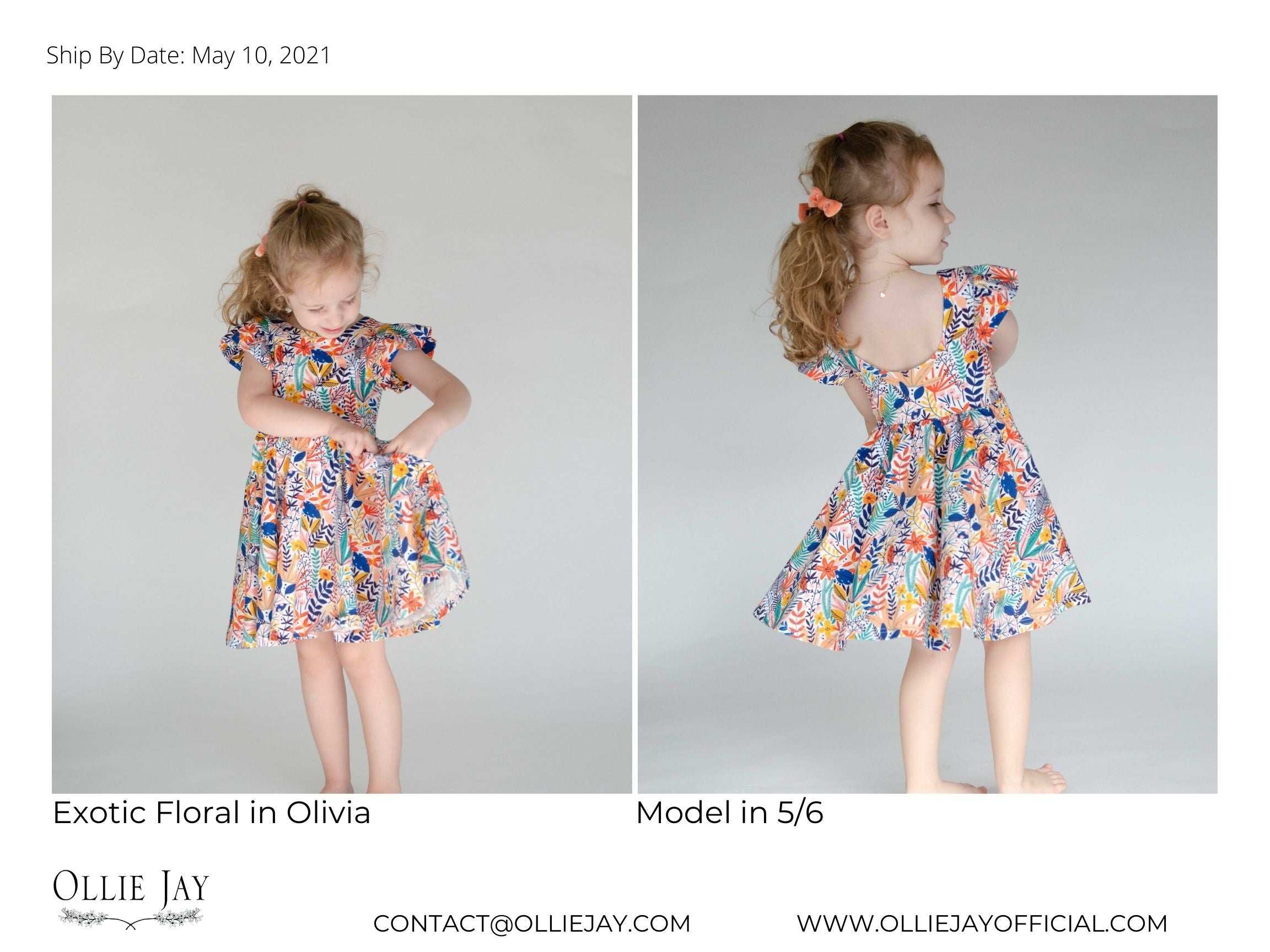 exotic floral twirl dress ollie jay