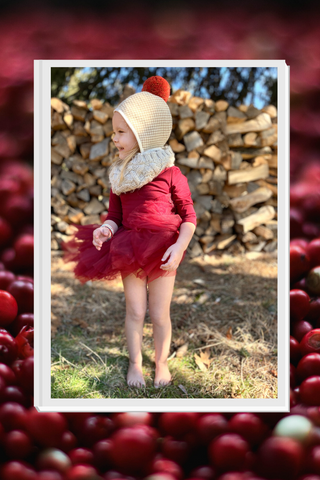toddler tutu style in the fall with pom pom beanie