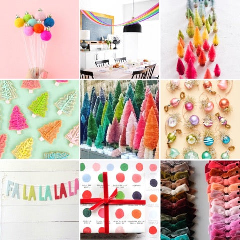 rainbow of images for nutcracker party inspiration