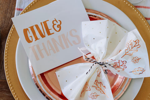 cute cards for thanksgiving table settings with napkin wrapped in twine