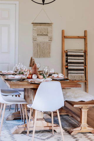 rustic thanksgiving table set up idea
