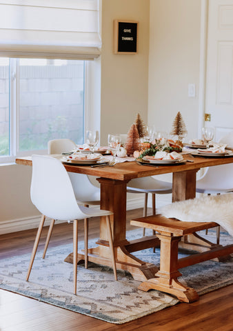 rustic farmhouse thanksgiving tablescape ideas