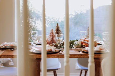 thanksgiving meets christmas table inspiration