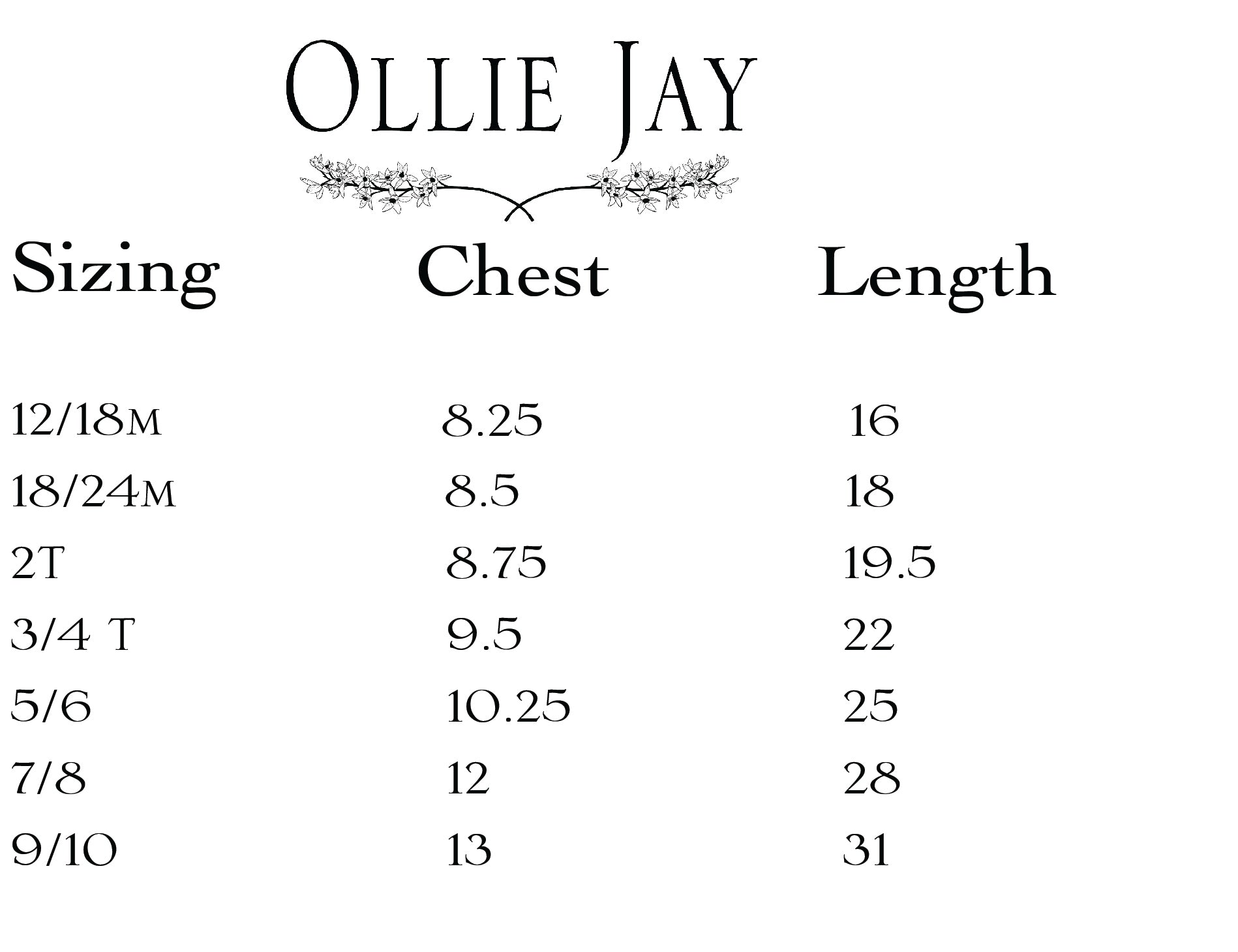 ollie jay twirl dress sizing