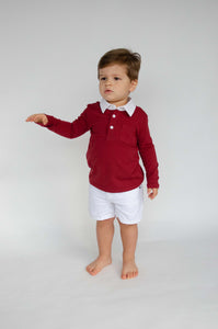 9/6: The Collared Shirt in Cranberry