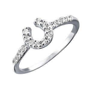 Sparkle Horseshoe Ring