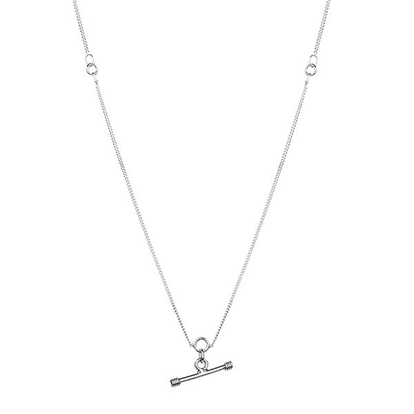 Fine Toggle Necklace Silver
