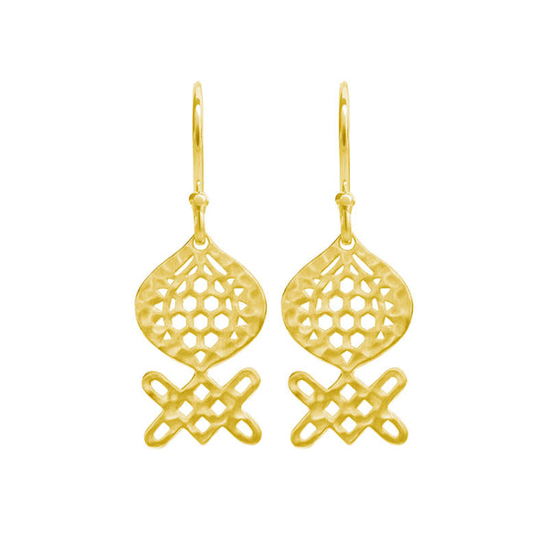 Andalusia Medium Hanging Earrings in 18 KT Yellow Gold Plate