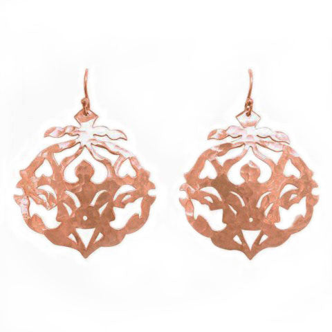 Andalusia Earrings Rose Gold plate with hooks