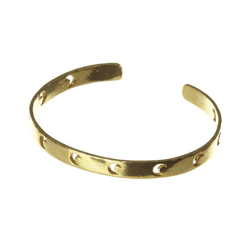 Moonlighting Brass Cuff Bracelet