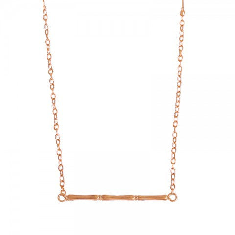 Bamboo Necklace with Rose Gold plate