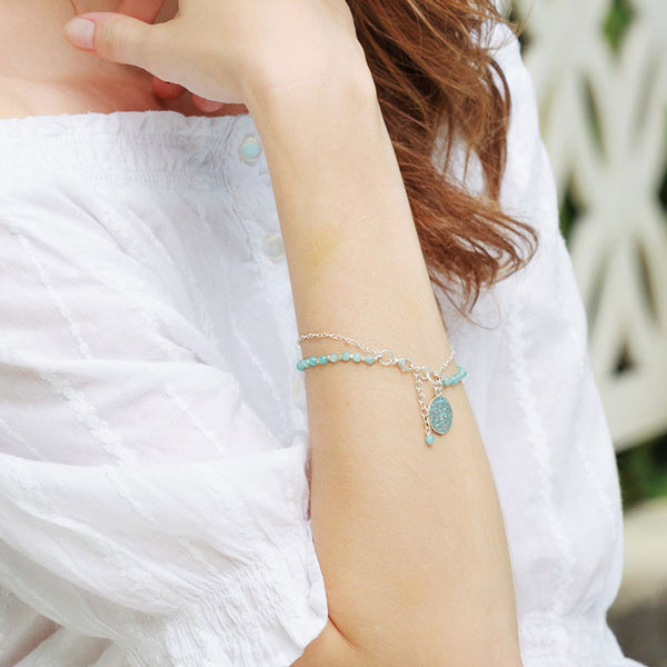 Boho Resort Aqua Stones and Sterling Silver