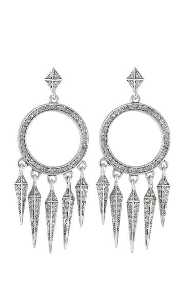 House of Harlow Silver Vibrations Chandelier Earrings