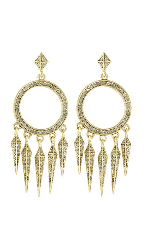 House of Harlow Gold Vibrations Chandelier Earrings
