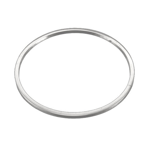 Square Edge Circle Bangle Silver - Thick