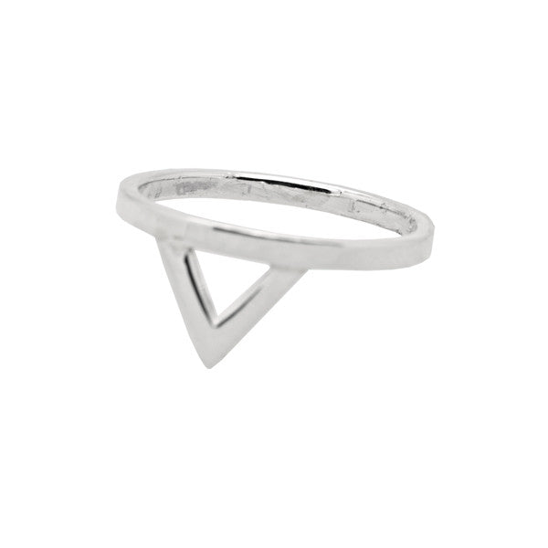 Open Triangle Sterling Silver Ring Ichu