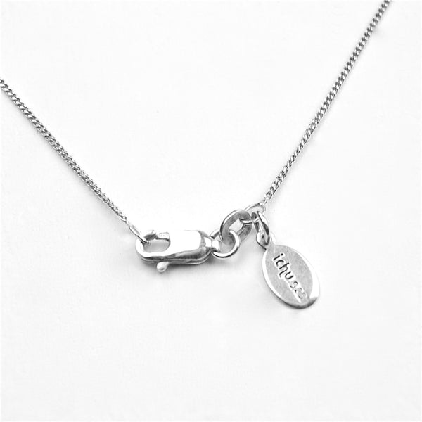 Initial pendant necklace i by Ichu