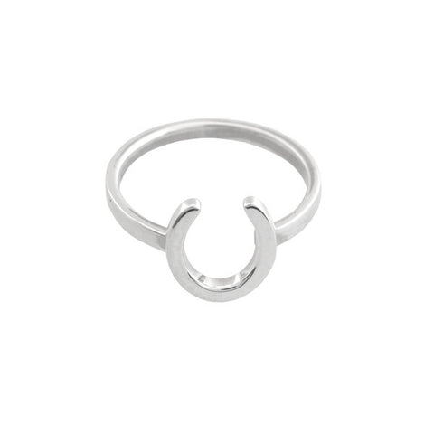 Silver Horse Shoe Ring Ichu