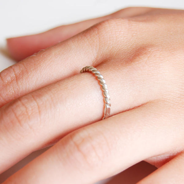 Rope ring Sterling Silver by Ichu