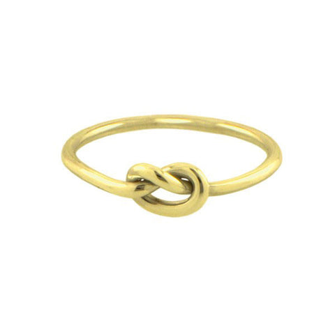 Gold plated silver Love Knot Ring Ichu