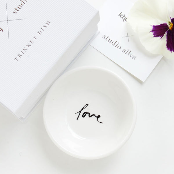Trinket Dish with Love design
