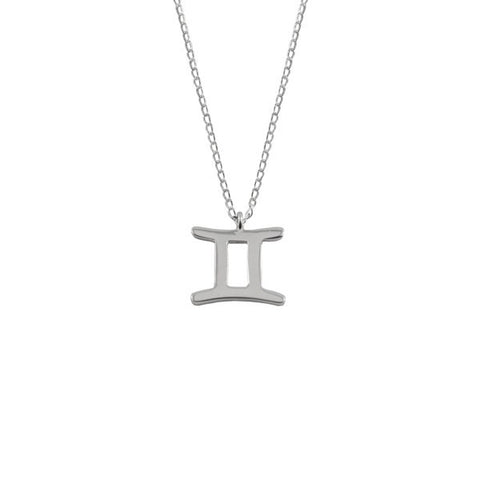 Gemini Zodiac Necklace Silver 925