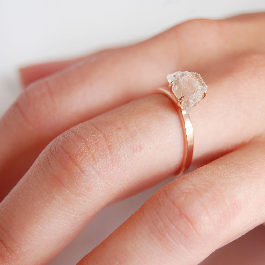 Quartz ring rose gold | Kamali Moon